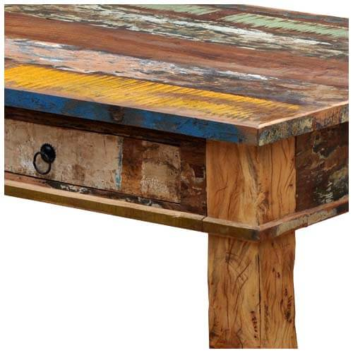 Unique Reclaimed Wood Rustic Dining Room Table Furniture