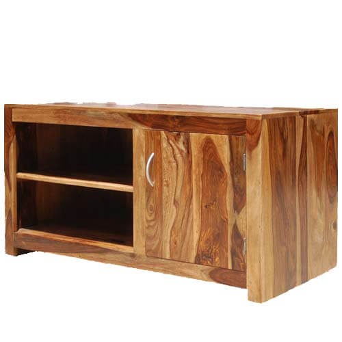 Santa Fe Contemporary Long Entertainment TV Stand Media Cabinet