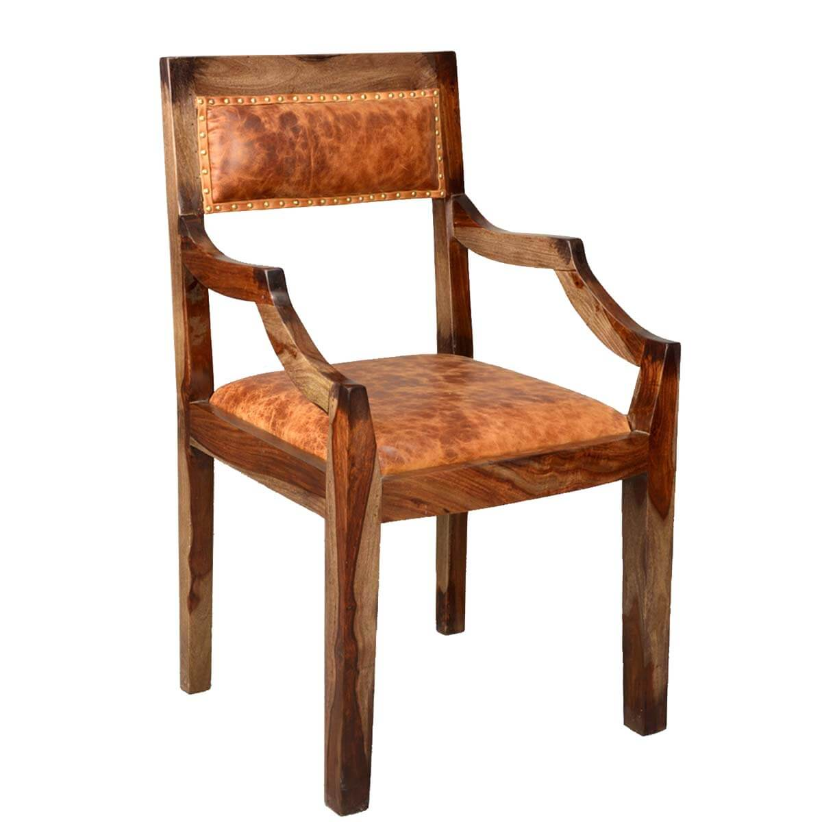 Imperial Solid Wood & Leather Upholstered Dining Chair