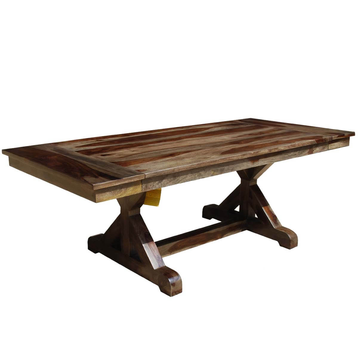 Antwerp X Base Solid Wood Rustic Extendable Farmhouse Dining Table