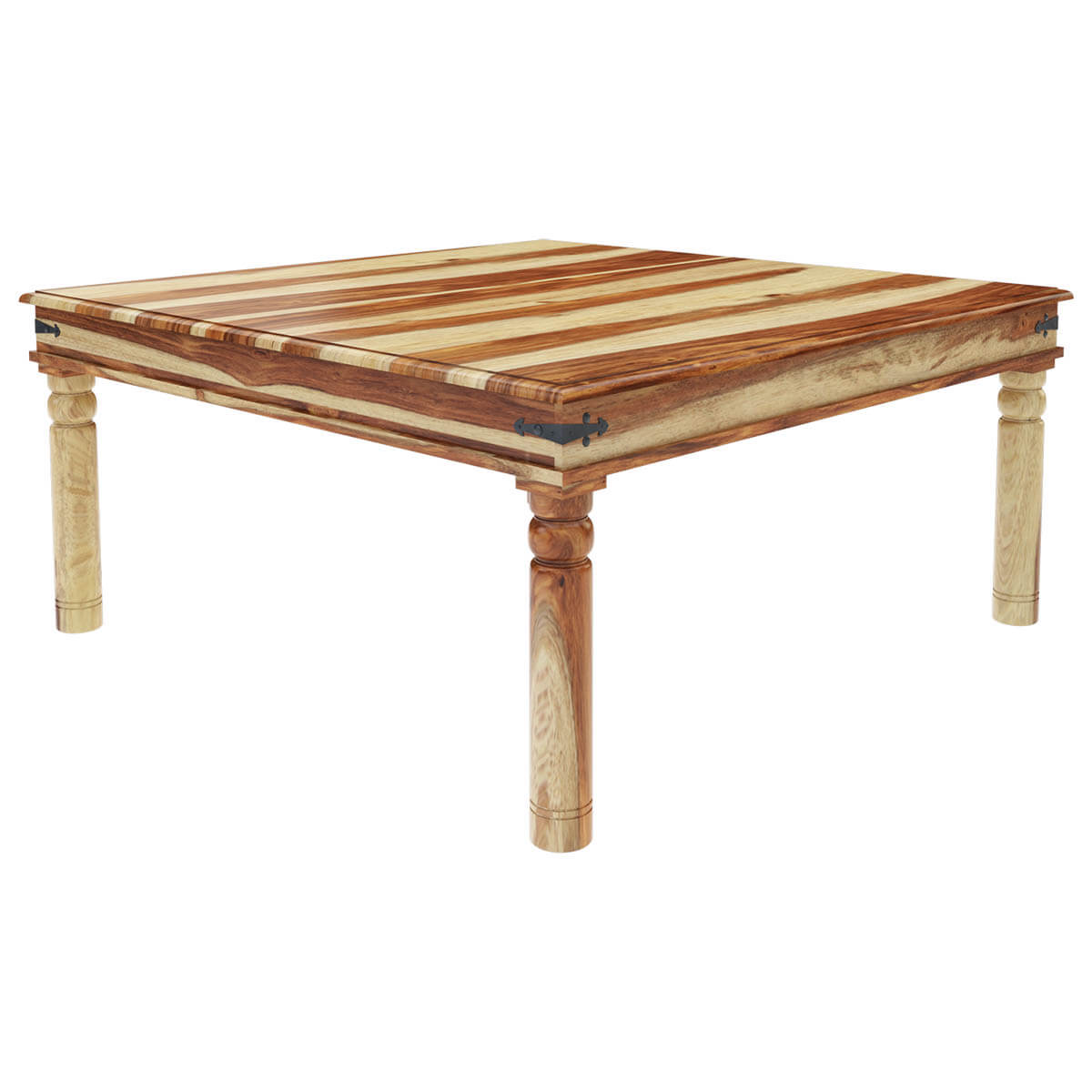 Peoria Rustic Solid Wood Square Dining Table