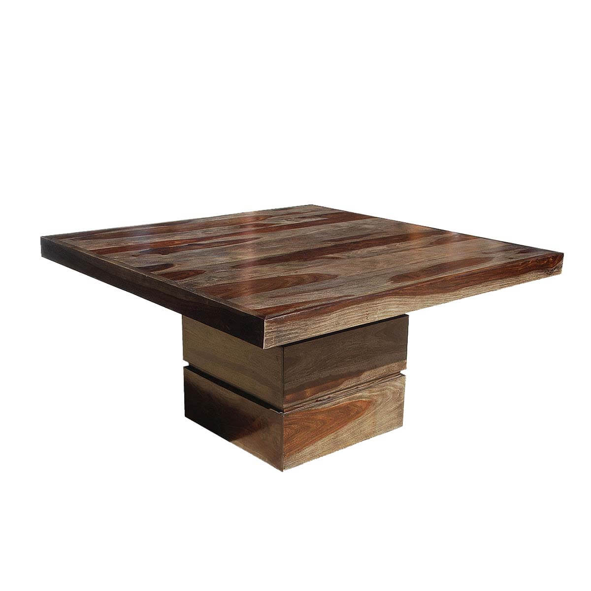 Dallas Modern Solid Wood 48 Square Pedestal Dining Table
