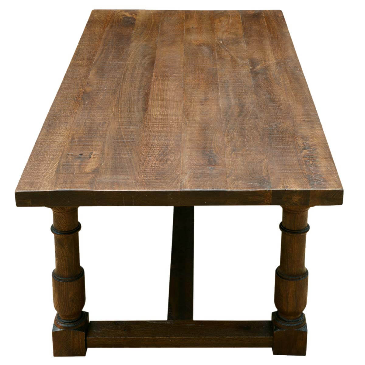 "Large Solid Mango Wood Nelson 79"" Dining Table With Turned"