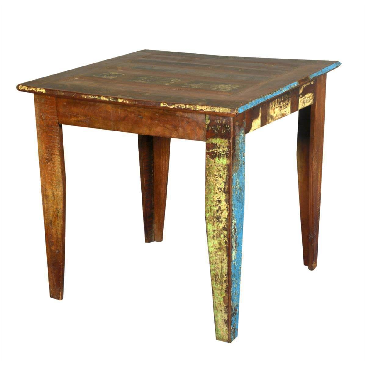 Cariboo 32 Square Reclaimed Wood Kitchen Dinette Table