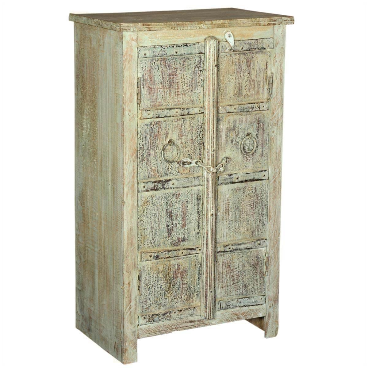Dobson Rustic Reclaimed Wood Handcrafted 2 Door Accent Storage Cabinet