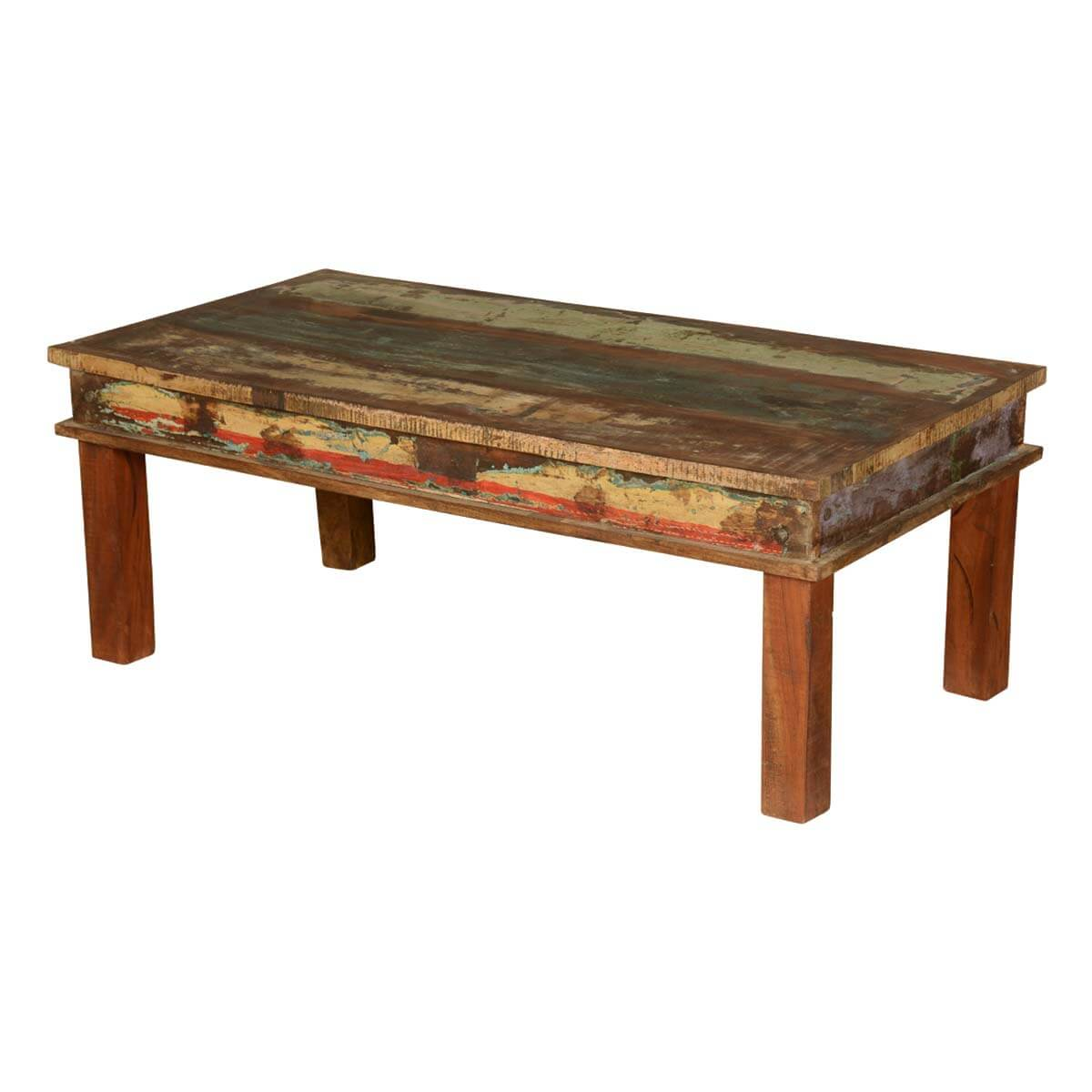Appalachian Reclaimed Wood Multi-Color Coffee Table