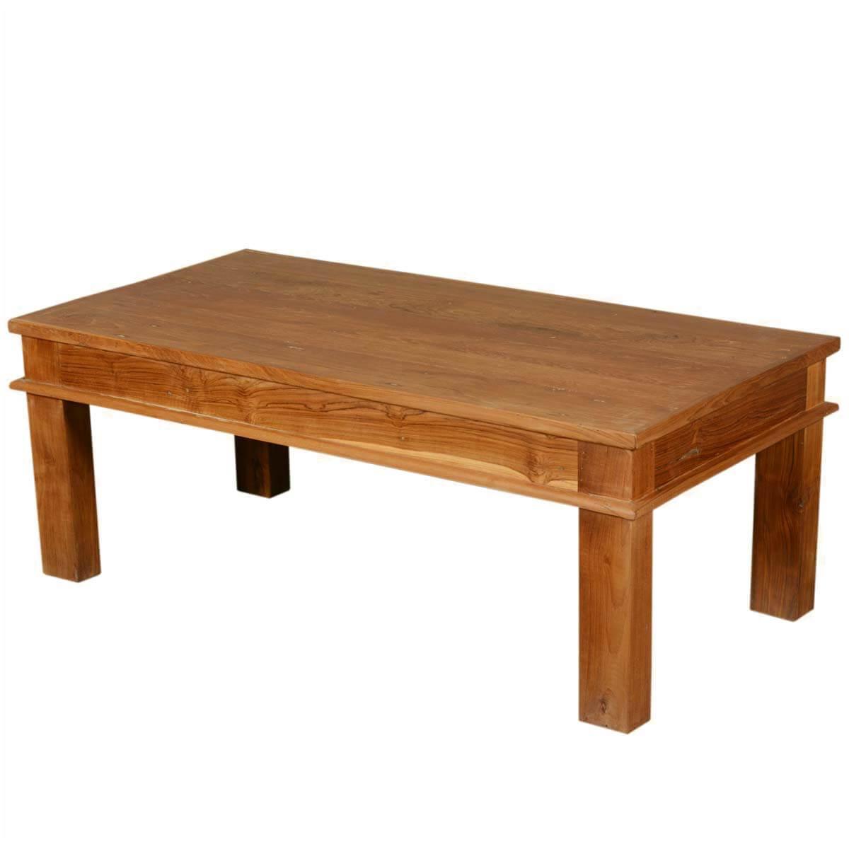 48 Solid Teak Wood Danish Rustic Coffee Table