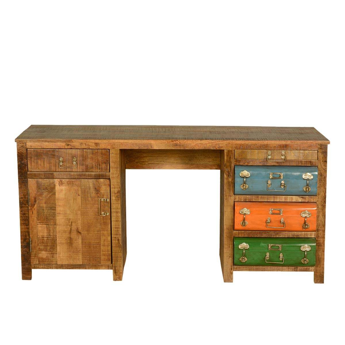 Steam Punk Solid Wood Colorful Office Desk