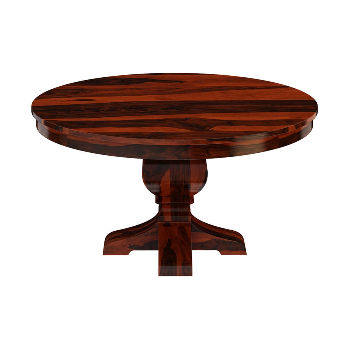 "Round Solid Wood Dining Table: Missouri 60"" Solid Wood Round Pedestal Dining Table"