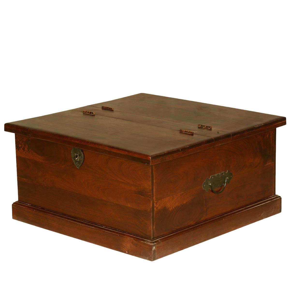 Grinnell 31.5 Square Solid Wood Coffee Table Chest