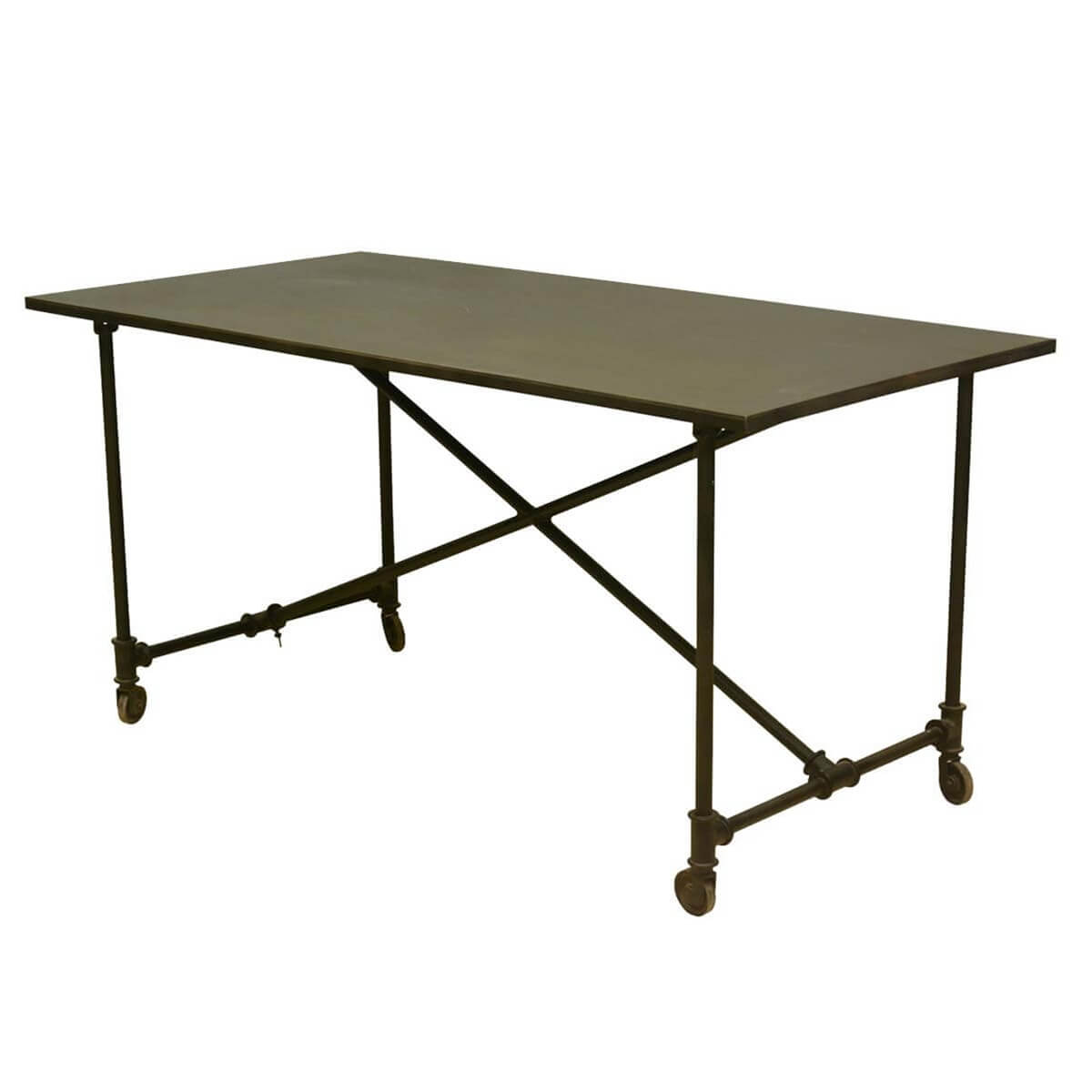 Industrial On the Move Iron Rolling 59 Work Space Table