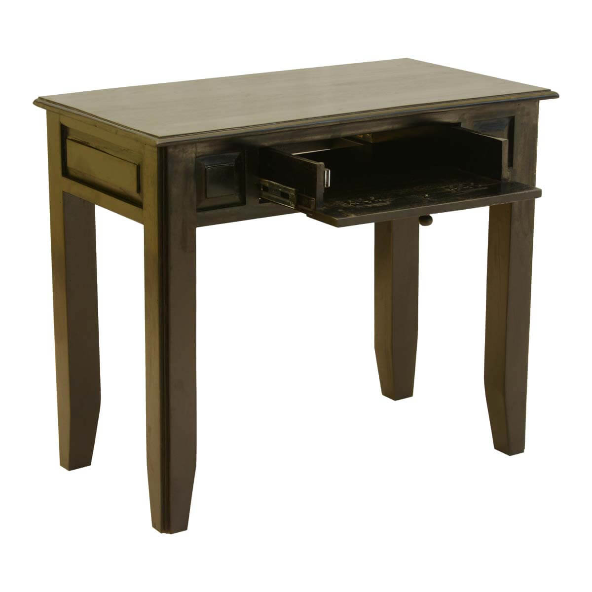 Beau Colonial Mango Wood Console Table Desk W Drawer