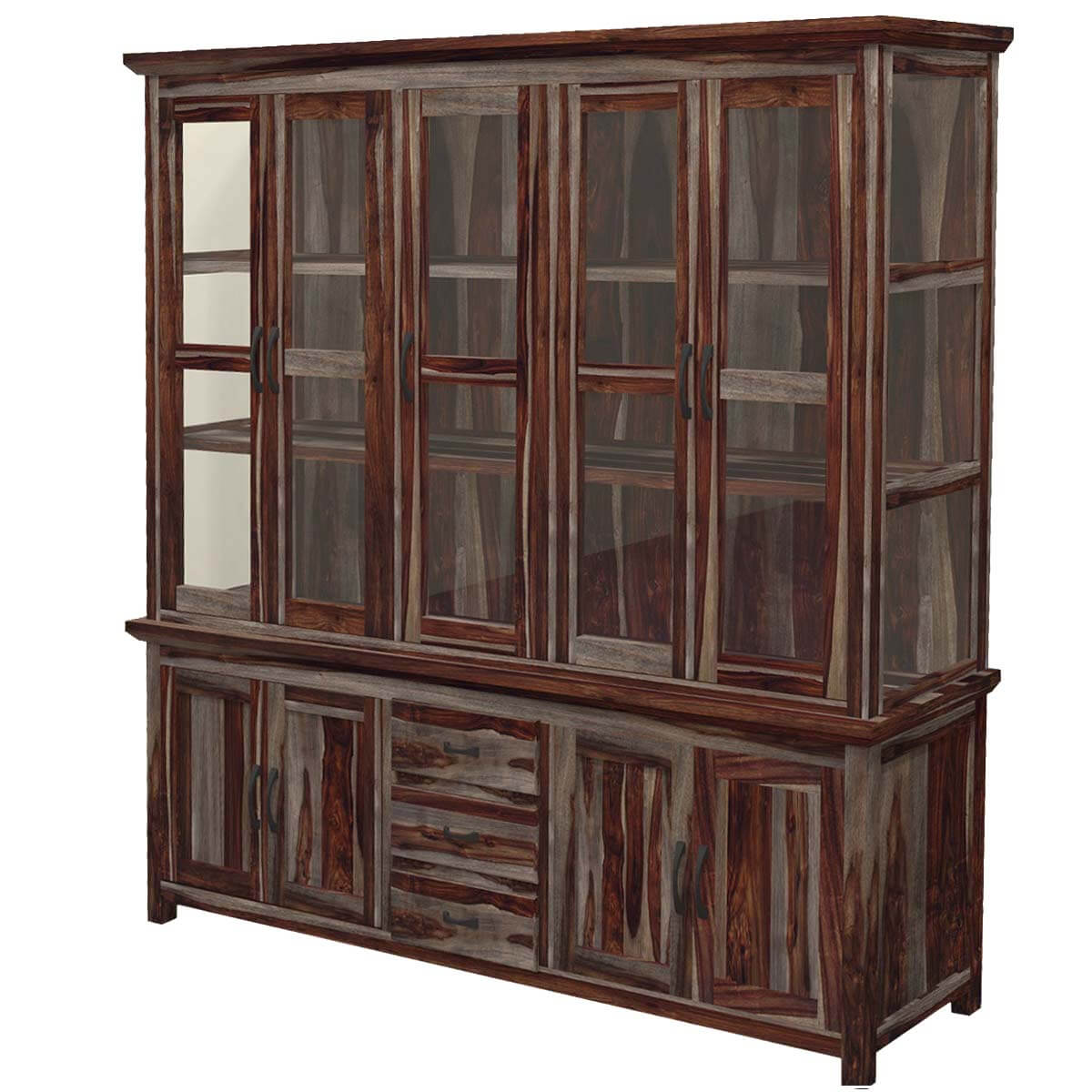 Dallas Ranch Solid Wood Handcrafted Dining Room Hutch