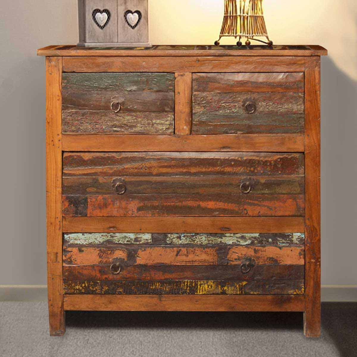 Appalachian Country Reclaimed Wood Rustic Dresser Chest