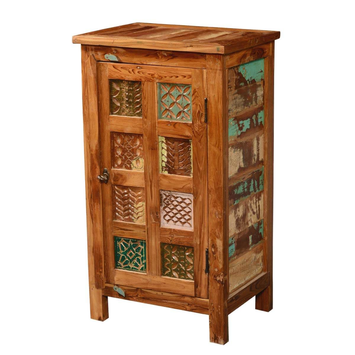 Appalachian Patch Quilt Reclaimed Wood Kitchen Cupboard Cabinet