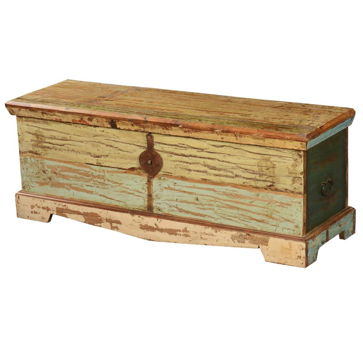 Attic Treasure Reclaimed Wood Coffee Table Chest Storage Trunk