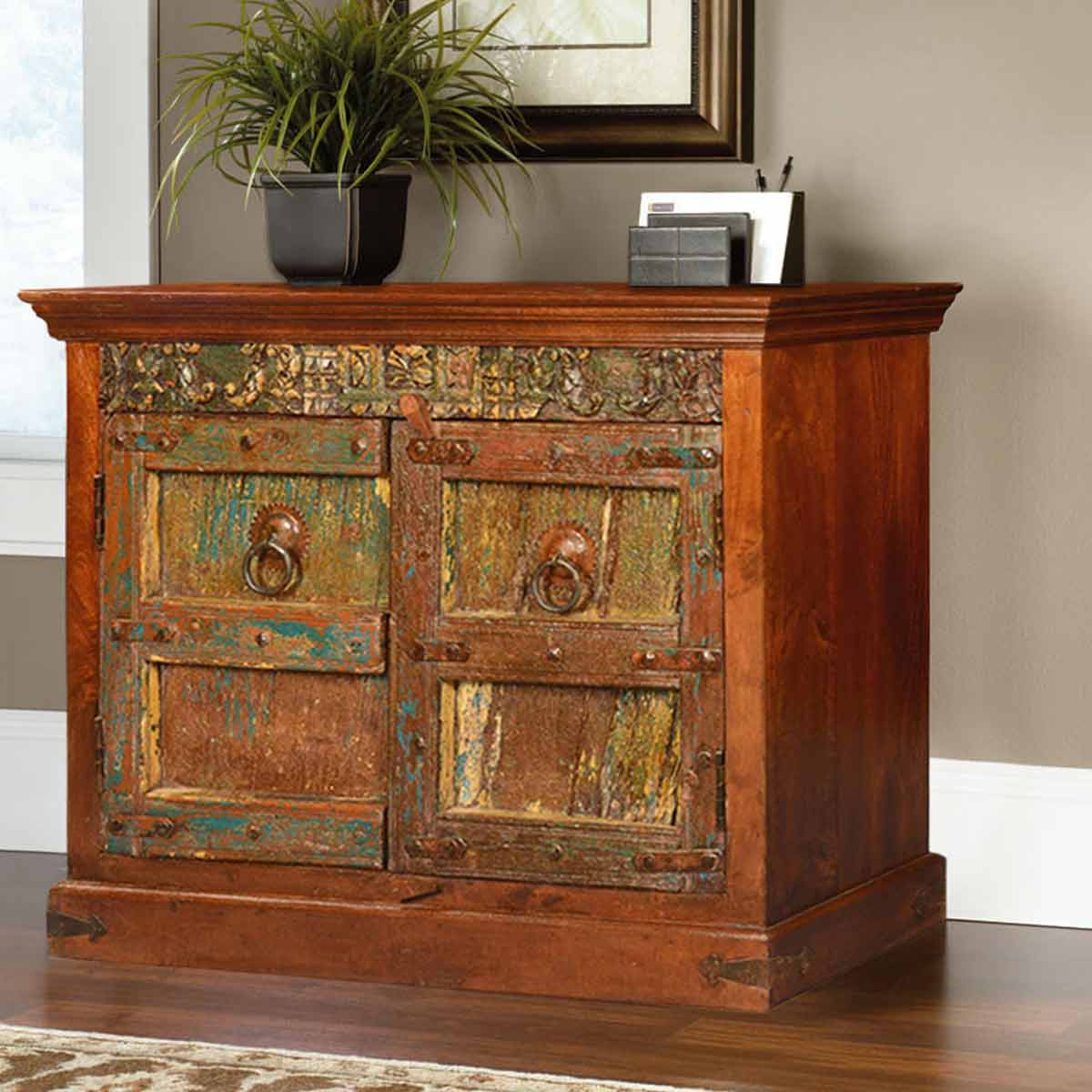 Dumont Classic Mango & Reclaimed Wood Storage Cabinet