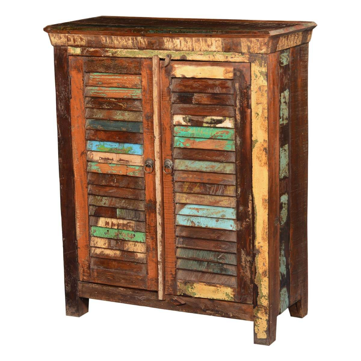Reclaimed Wood Kitchen Cabinets: Tennessee Reclaimed Wood Shutter Doors Rustic Storage Cabinet