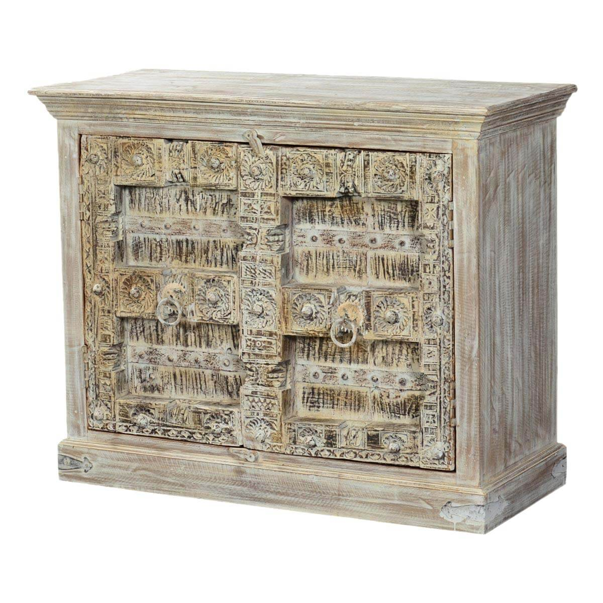 Bagley Mango and Reclaimed Wood Storage Console Cabinet