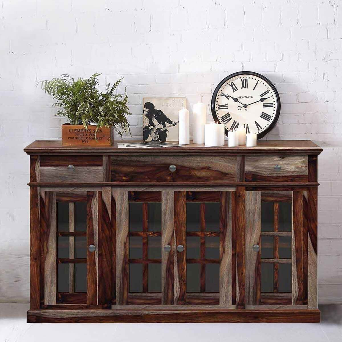 Dallas Ranch Rustic Solid Wood Contemporary Large Sideboard