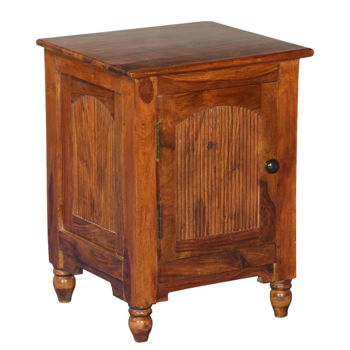 Rustic Empire Solid Wood Nightstand End Table Cabinet