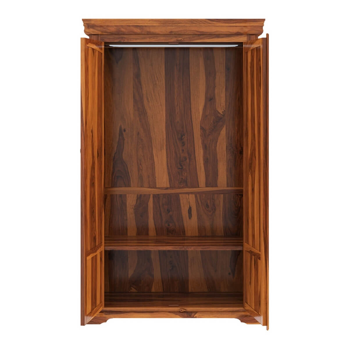 Empire Bedroom Rustic Solid Wood Large Armoire Wardrobe With ...