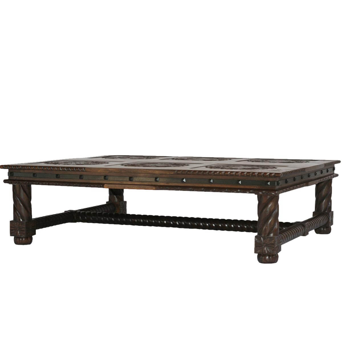 Antique Living Room Solid Wood Viking Coffee Table