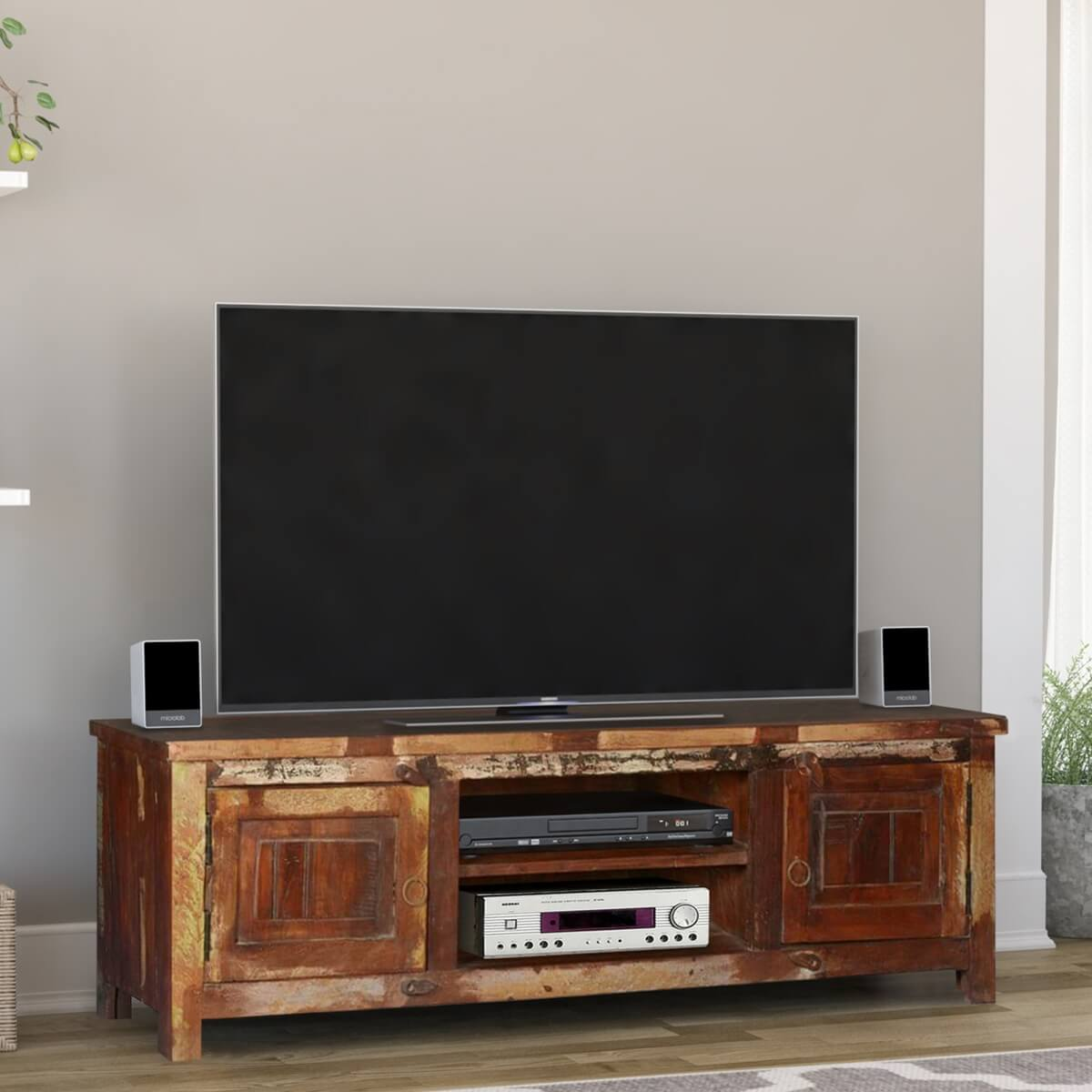 Magnificent Old Chicago Rustic Reclaimed Wood Tv Console Media Cabinet Download Free Architecture Designs Grimeyleaguecom