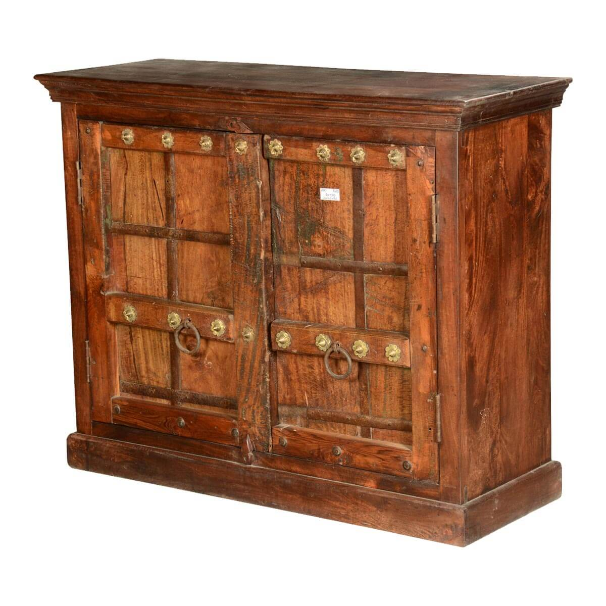Nottingham rustic reclaimed wood handcrafted storage cabinet hover to zoom