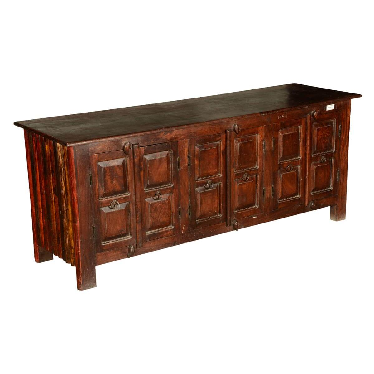 Shaker Rustic Reclaimed Wood 64 TV Stand Media Console
