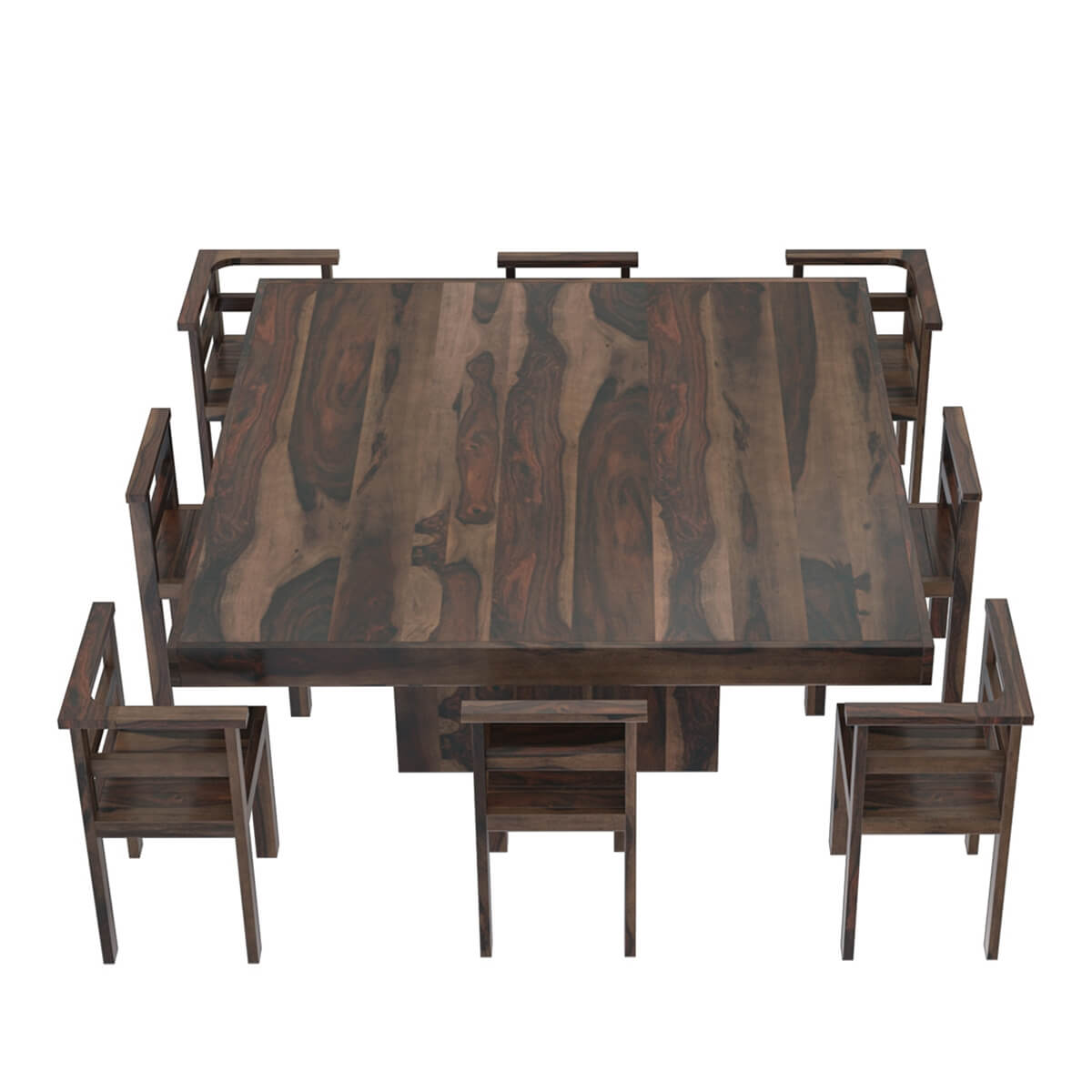 8 Chair Square Dining Table