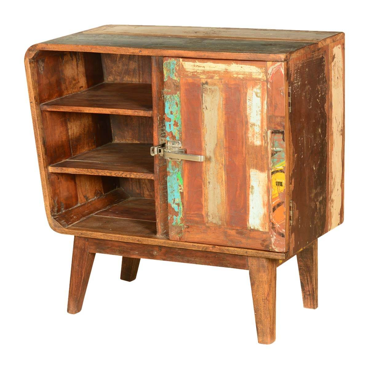 Strange Destin Rustic Reclaimed Wood Open Shelf Freestanding Cabinet Home Interior And Landscaping Synyenasavecom
