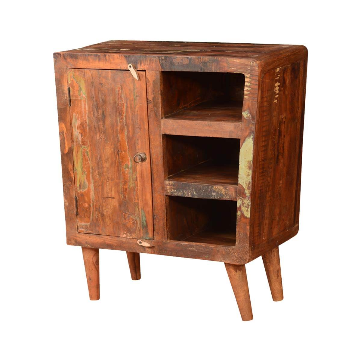 Phenomenal Lewes Retro Rustic Reclaimed Wood Open Shelves Freestanding Cabinet Home Interior And Landscaping Oversignezvosmurscom