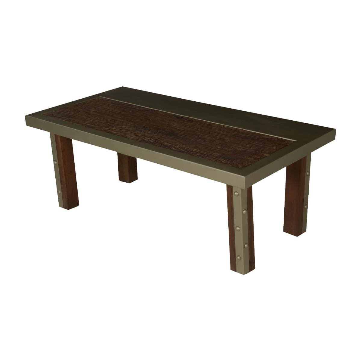"Modern Industrial Mango Wood & Iron 47"" Coffee Table"