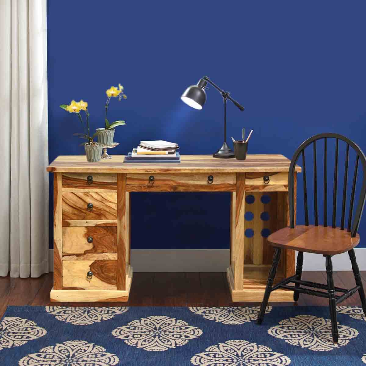 Dallas Ranch Solid Wood Contemporary Home Office Executive Desk