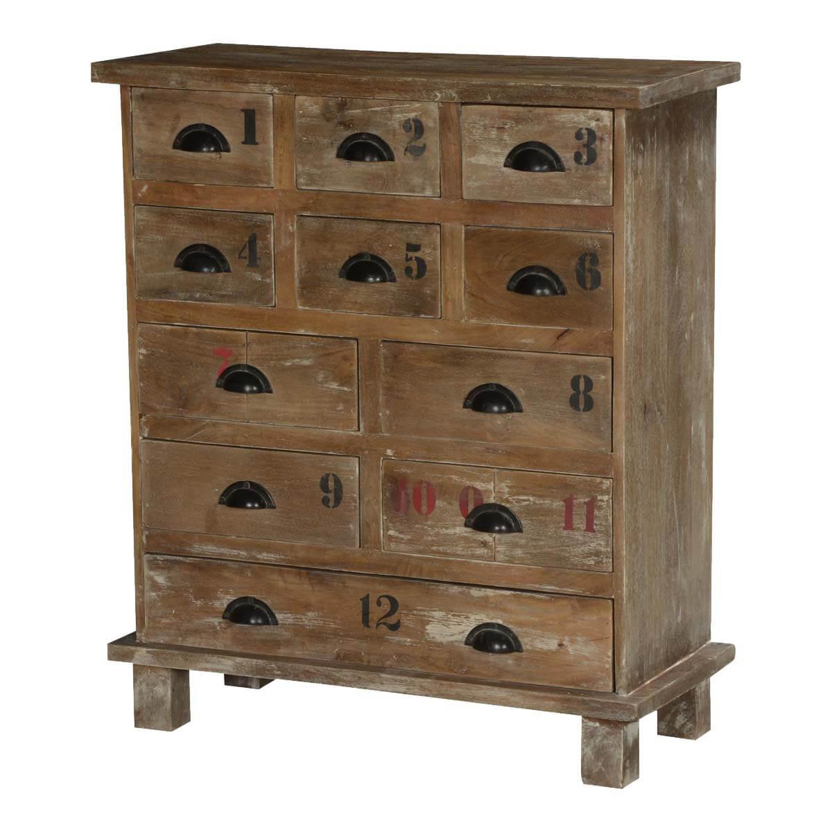 Vegas Rustic Solid Wood 11 Drawer Standard Vertical Dresser