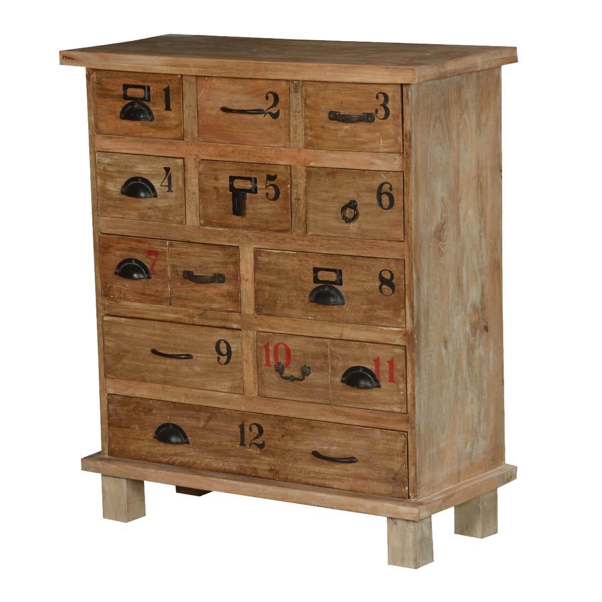 Texas Solid Wood Rustic 11 Drawer Standard Vertical Dresser
