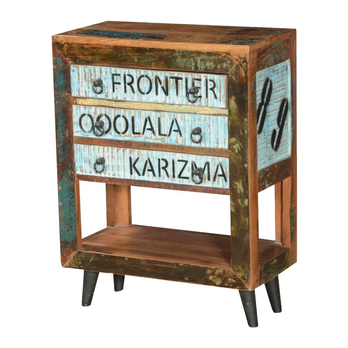 Modern Frontier Reclaimed Wood Freestanding 3 Drawer Chest