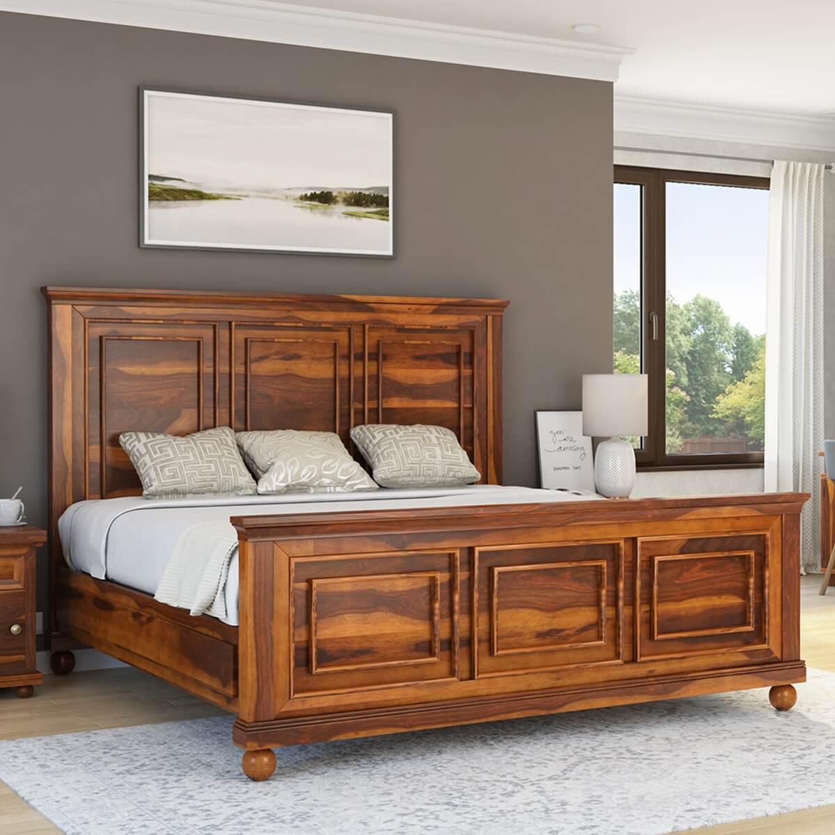 Pecos Mission Solid Wood Platform Bed Frame
