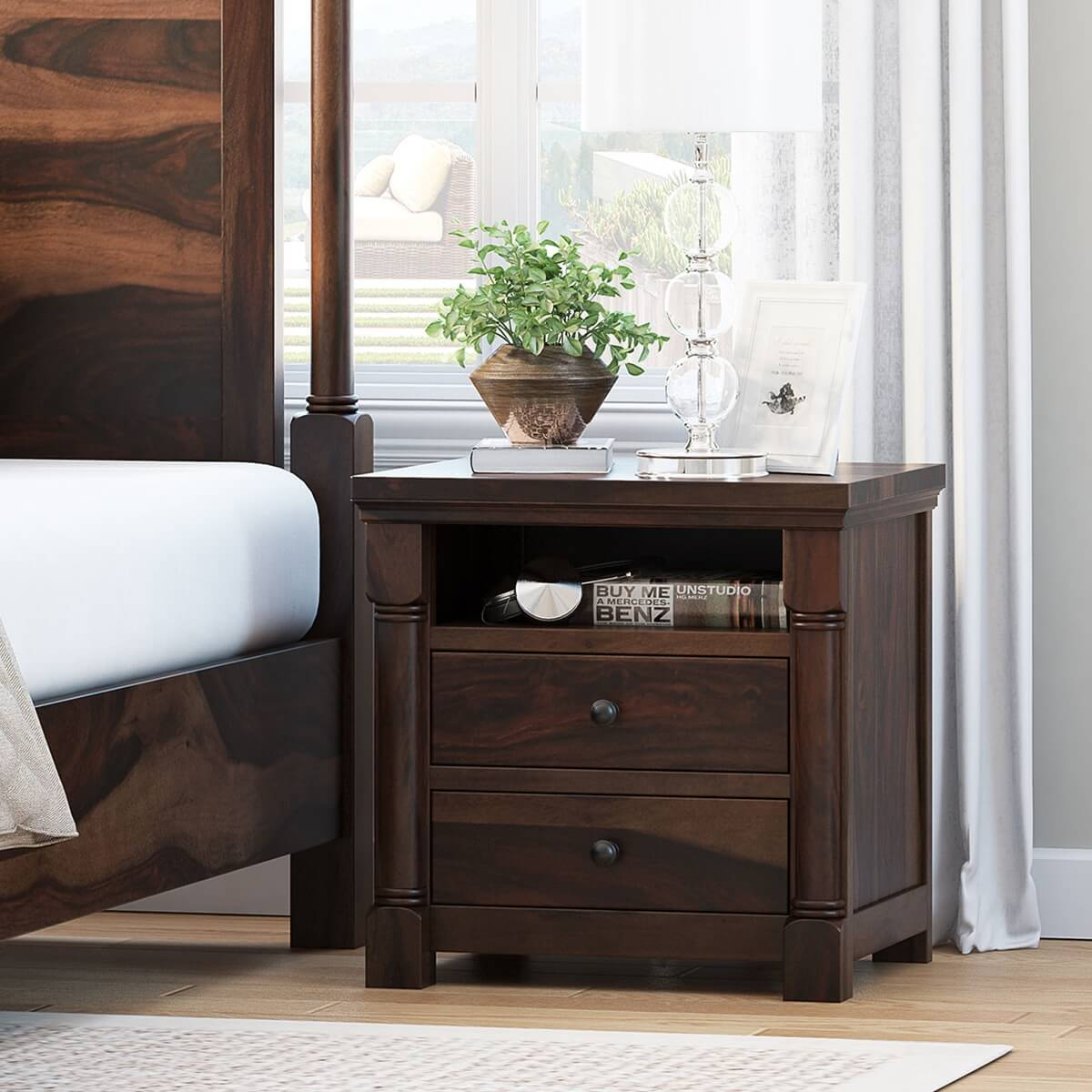 Pioneer Transitional Standing 3-Drawer Nightstand