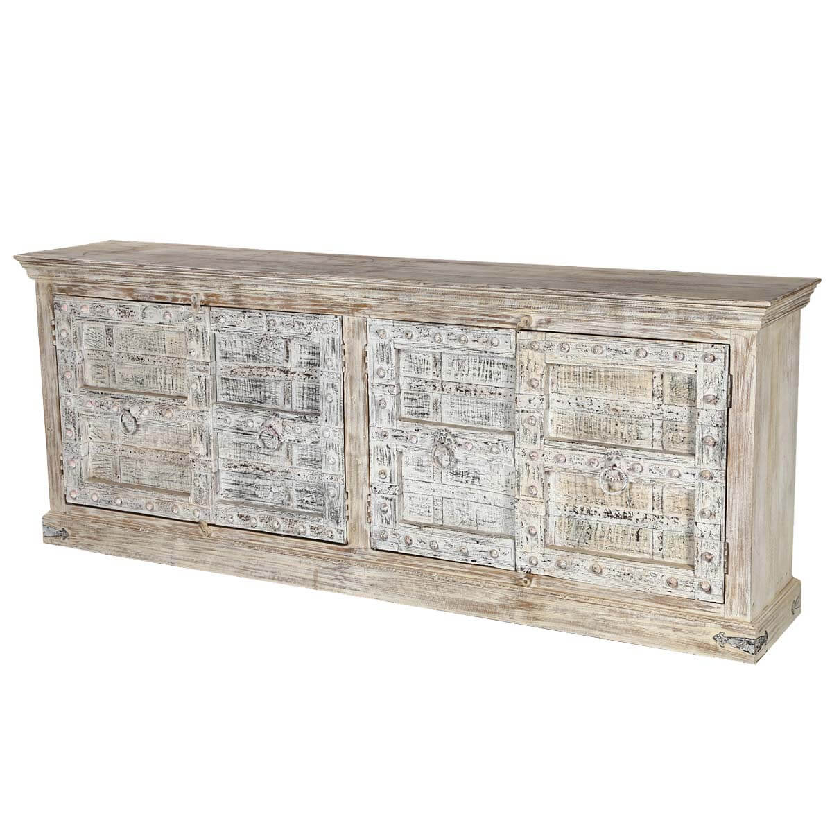 Antonito Gothic Gates Reclaimed Wood Extra Large Buffet Cabinet