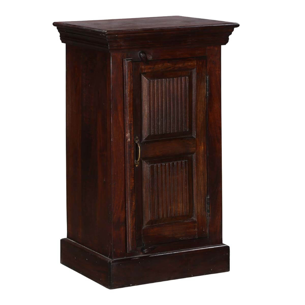 Traditional Shaker Mango Wood Nightstand End Table Cabinet