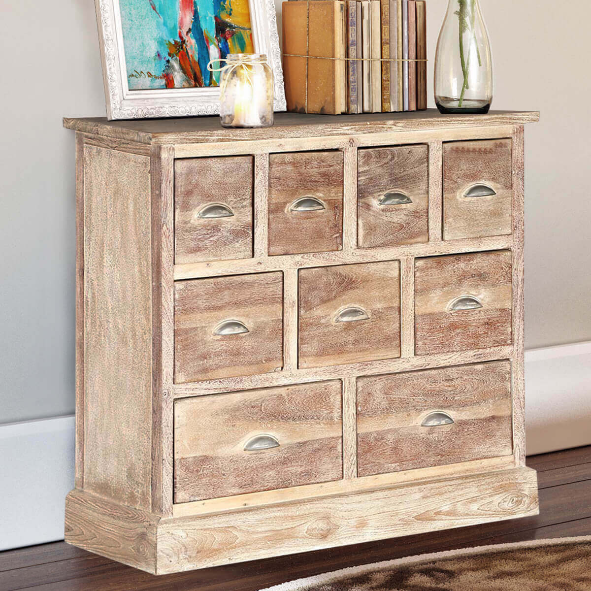 Horizontal 9 Drawer Dresser Hover To Zoom