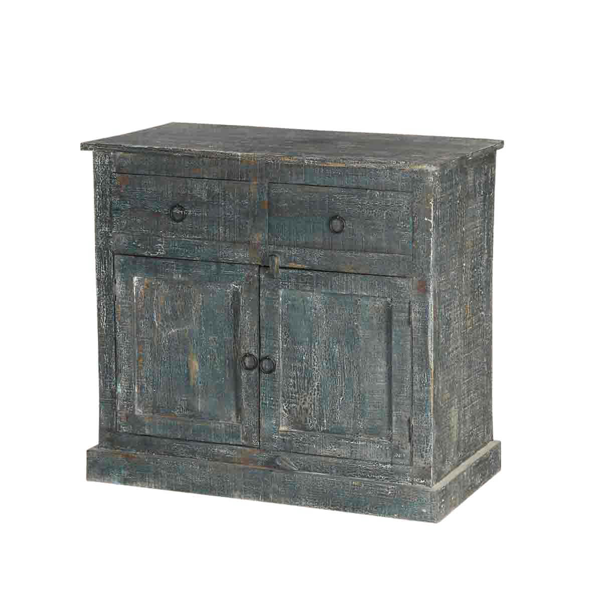 Burgoon Traditional Farmhouse Rustic Mango Wood Small Sideboard