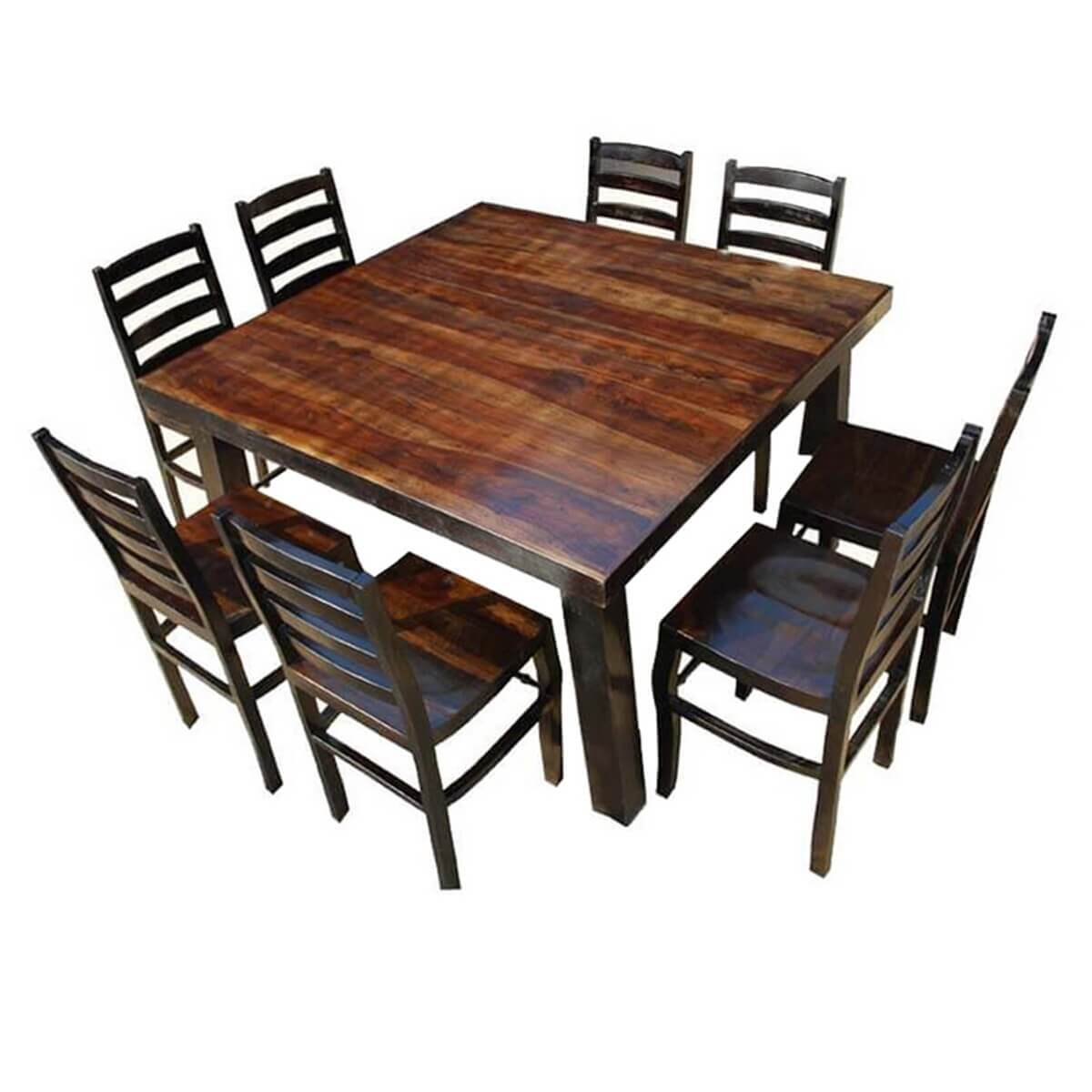 cae09ba89b3 Rustic Counter Height Kansas City Square Dining Set For 8 People