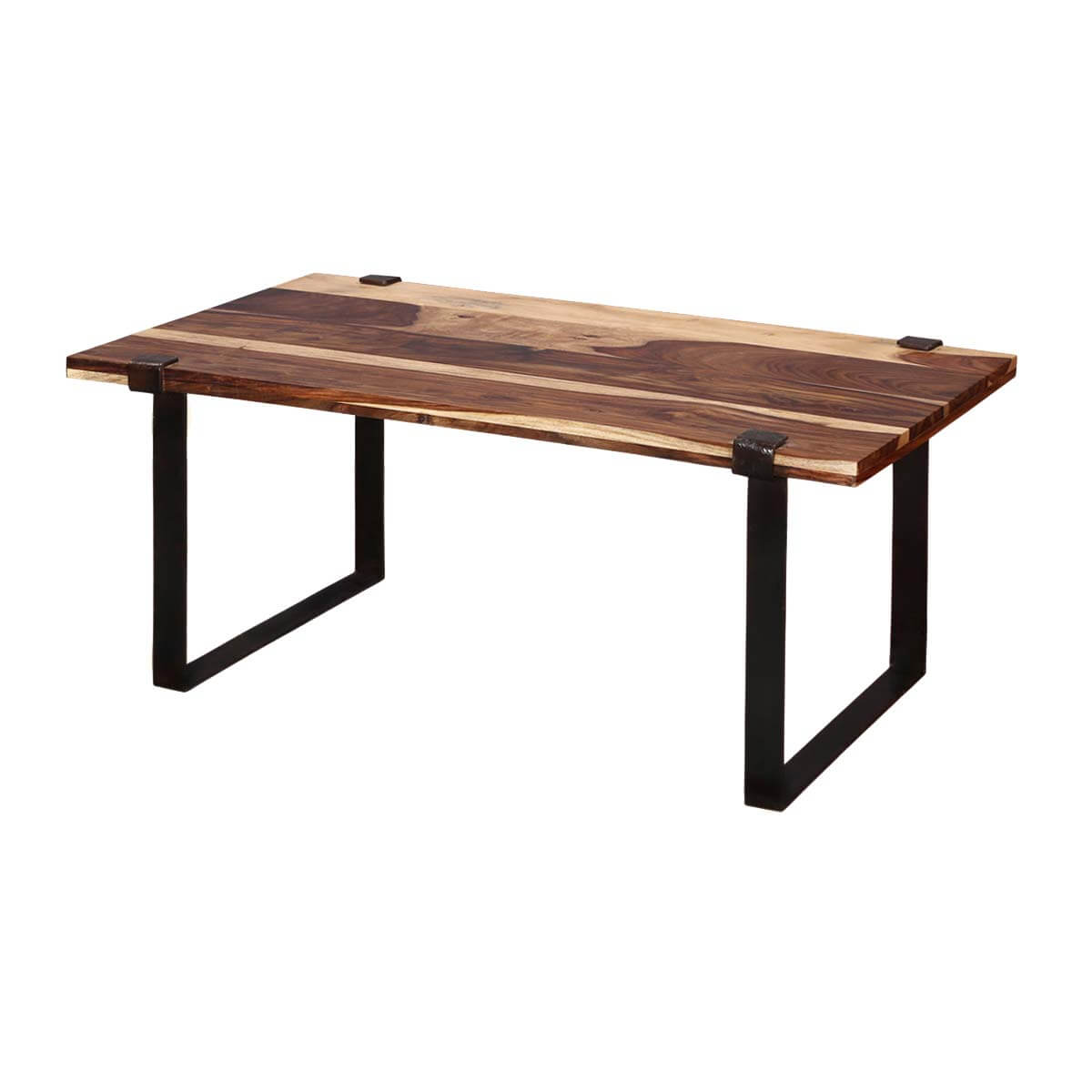 Maryland Stylish Iron legs with Rose Wood Top Accent Coffee Table