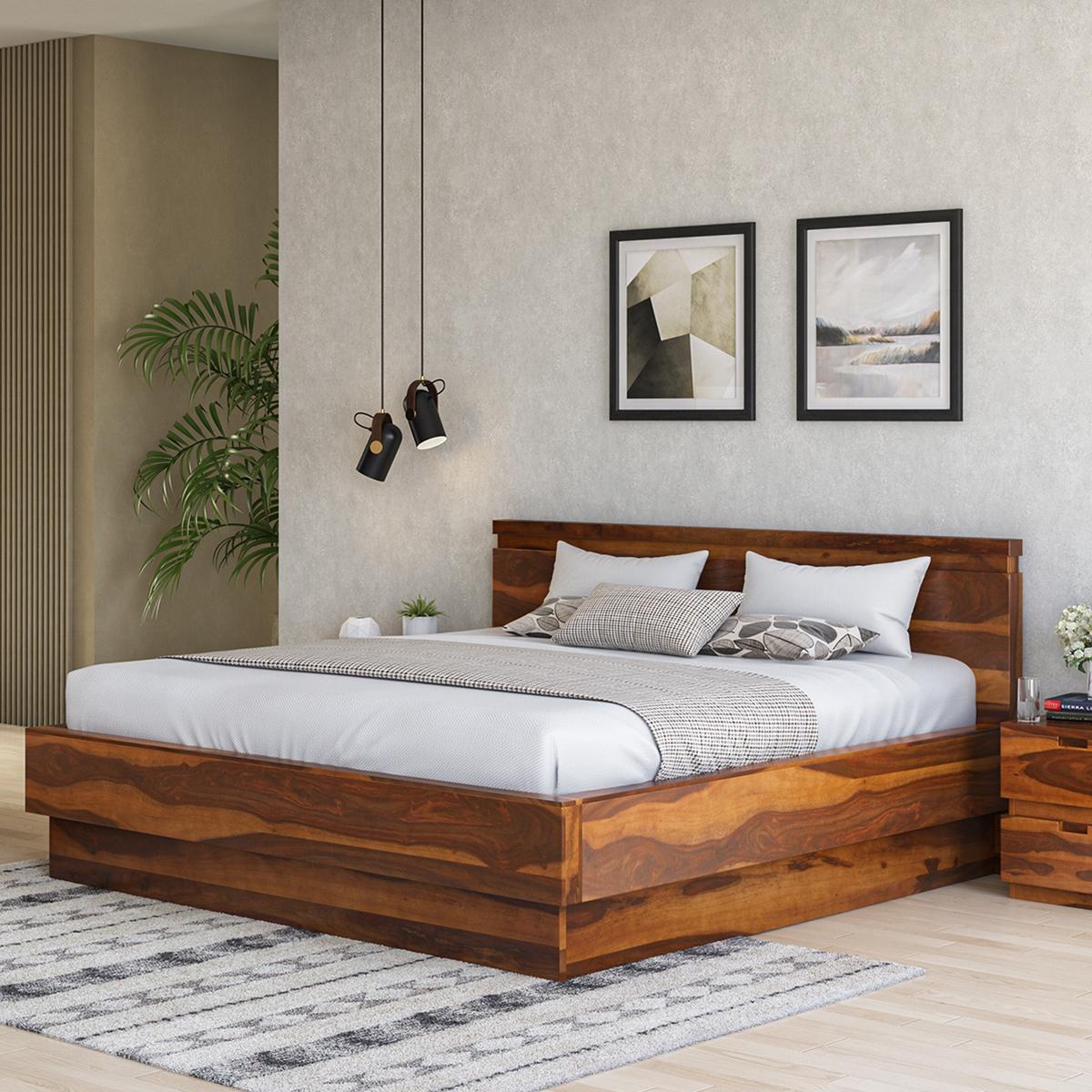 Picture of: Modern Simplicity Solid Wood Platform Bed Frame