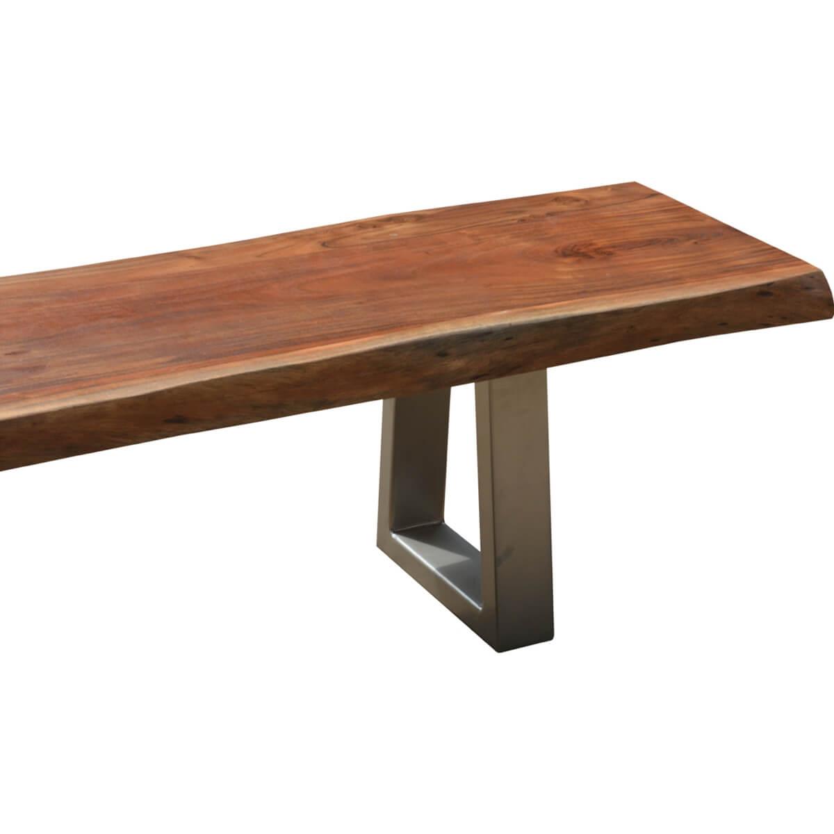 Natural Edge Acacia Wood Amp Steel 77 Bench