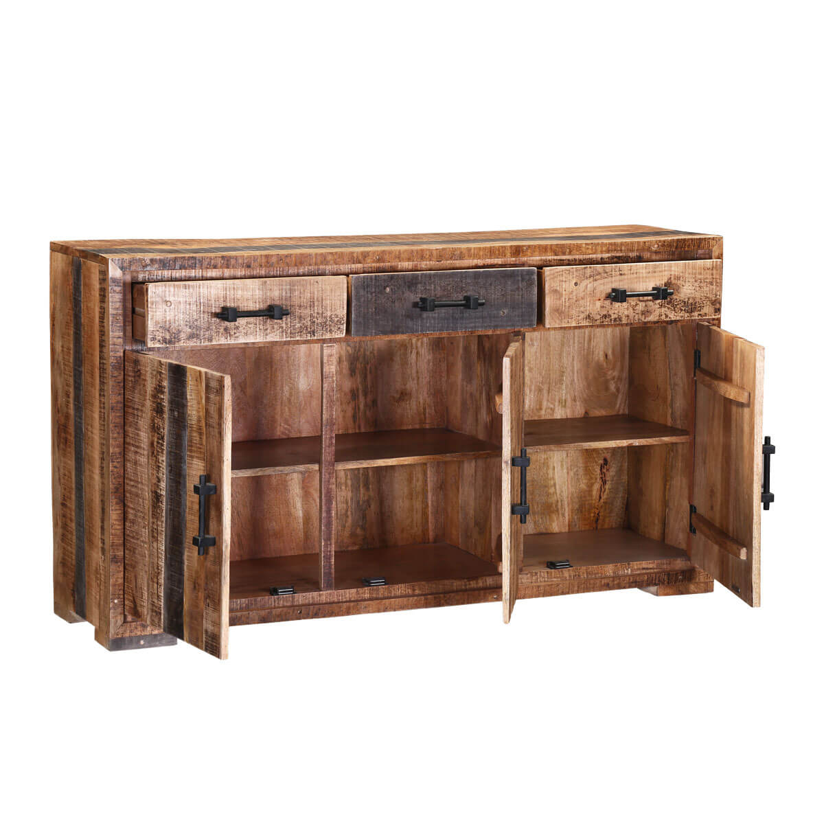Shenandoah solid wood 3 drawer rustic buffet
