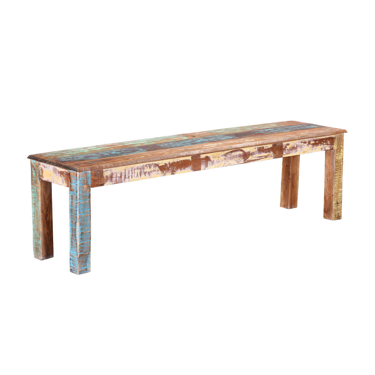 Strange Olsen Rustic Colors Reclaimed Wood Backless Dining Bench Spiritservingveterans Wood Chair Design Ideas Spiritservingveteransorg